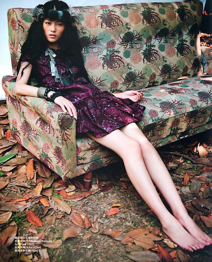 Neo-Boho   Liu Wen by Li Qi for Elle China, September 2008