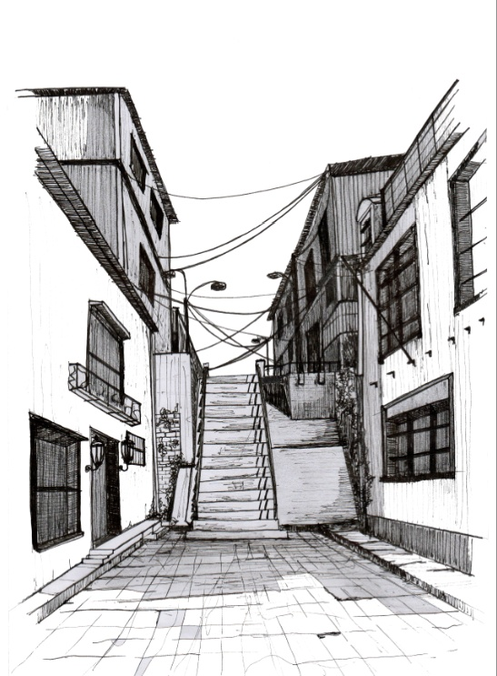 Valparaiso Illustrations by Constanza Monsalve, via Behance