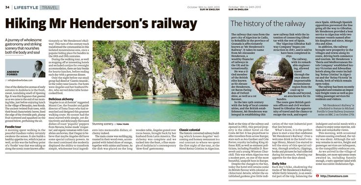 Walking / Hiking Mr Henderson's Railway - Andalucia - travel feature by Andrew Forbes www.andrewforbes.com