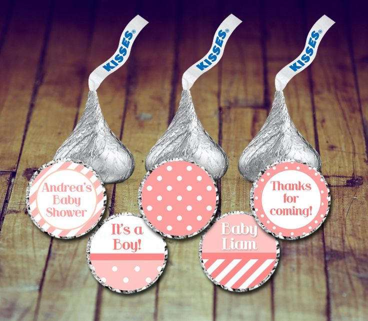 A personal favorite from my Etsy shop https://www.etsy.com/ca/listing/510143651/hershey-kisses-stickers-baby-shower-girl