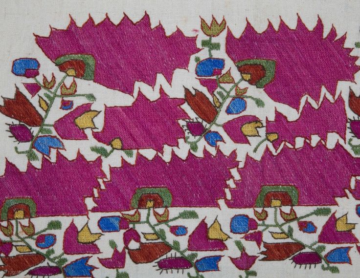 Ottoman Embroidery  48 x 26 cm  ( embroidered section only)