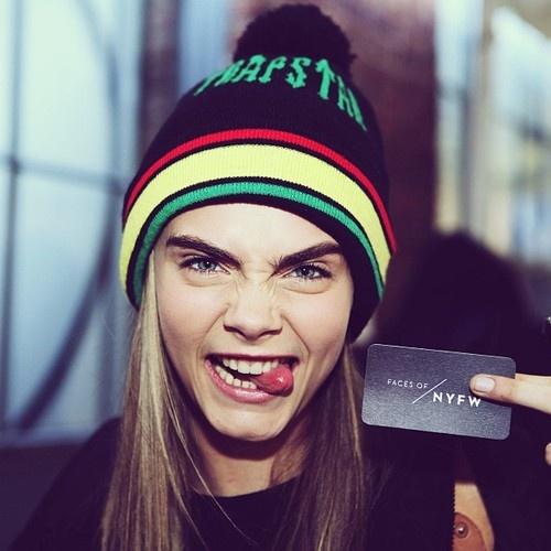 Cara Delevingne. Faces of New York Fashion Week