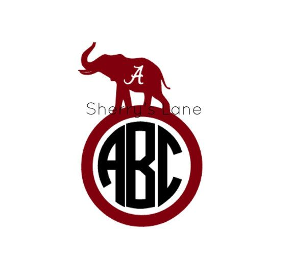 Alabama monogram car decal cars monograms and alabama for Alabama football mural