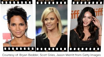 """Oval Face Shape  """"Styling Tricks that Flatter Your Oval Face Shape""""    Celebrities with Oval Face Shape, Halle Berry, Charlize Theron, Megan Fox"""