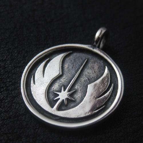 Silver Jedi pendant. Star Wars. Science Fiction. #Pendant