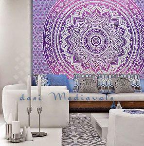 Ombre Purple Pinkmandala Indian Wall Tapestry Home Dorm Decor Bohemian Tapestry | eBay
