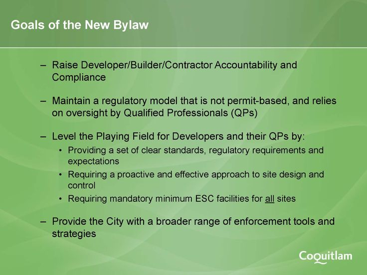 ESC_goals of new Coquitlam bylaw