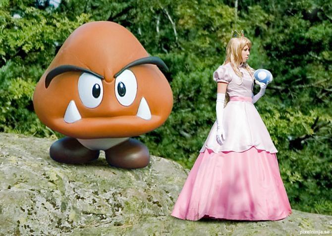 Cosplay de Peach   sexy  videojuegos chicas