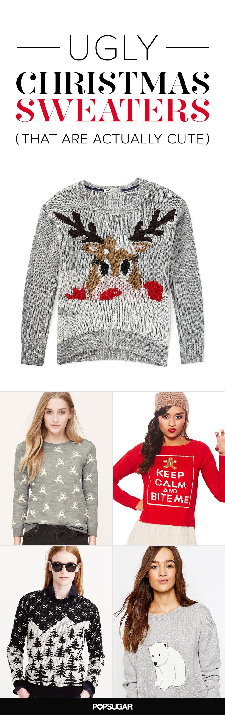 These ugly Christmas sweaters are totally cute!