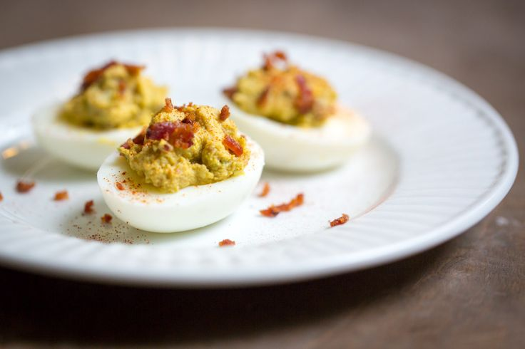 #LowCarb Bacon Deviled Eggs Shared on https://www.facebook.com/LowCarbZen