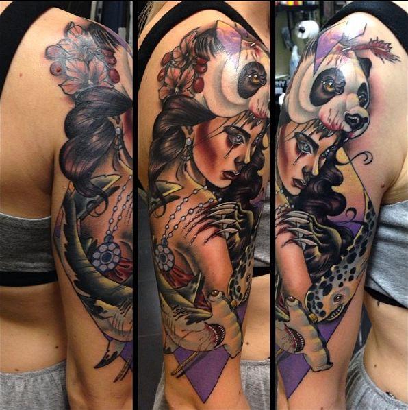 Artist kat abdy studio cherry bomb perth wa arm for Cherry bomb tattoo parlor perth