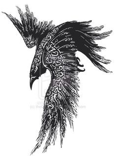 Raven tattoo - this would look awesome on my shoulder