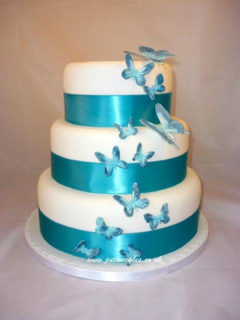 wedding cake butterfly 12 best wedding cake blue butterfly images on 22143