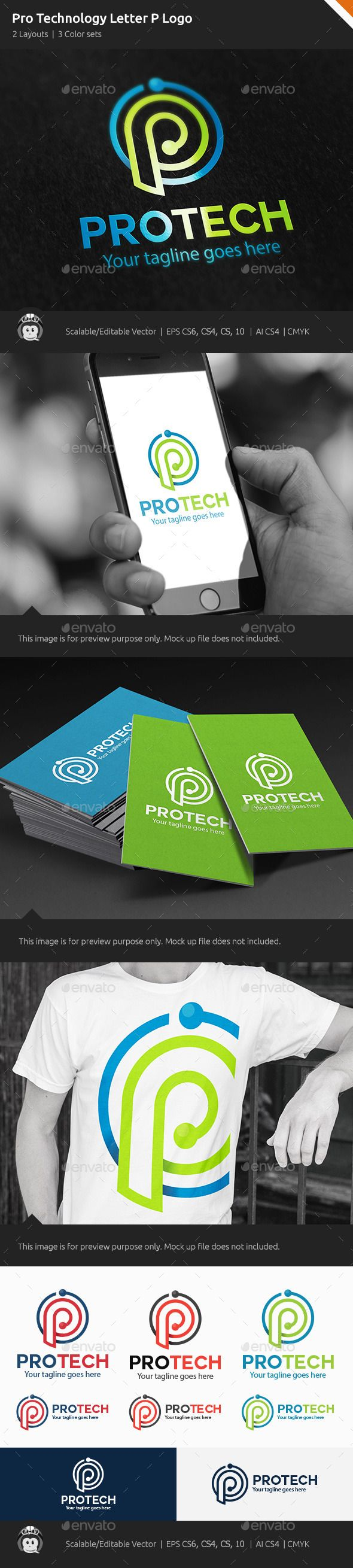 Pro Technology Letter P Logo — Vector EPS #creative #electronic • Available here → https://graphicriver.net/item/pro-technology-letter-p-logo/10378521?ref=pxcr