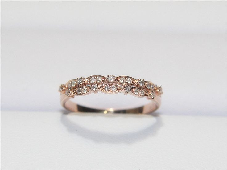 Unique Wedding Band14K Rose Gold Diamond Ring Half Eternity Band Women Diamond Anniversary Ring Engagement Band Jewelry Ring Promise Band by LynnLinDesign on Etsy https://www.etsy.com/listing/237639286/unique-wedding-band14k-rose-gold-diamond