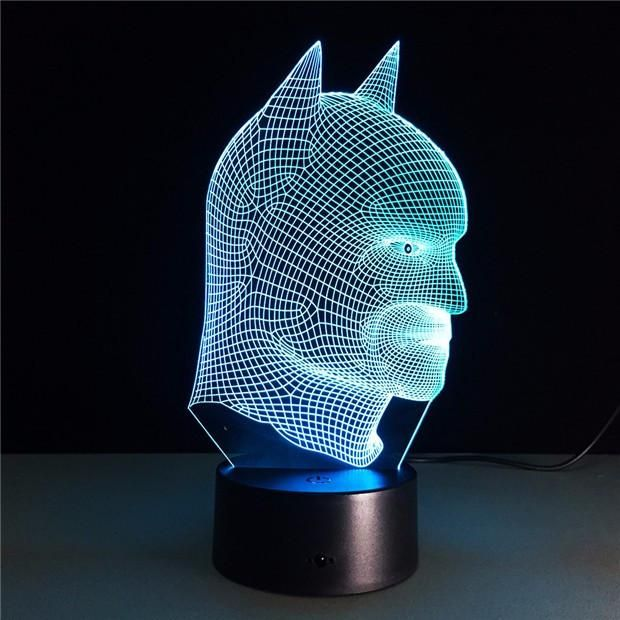 Cool Christmas Gifts Batman vs Superman 3D Acrylic LED Night Light Touch Switch Desk. Cool Christmas Gifts Batman vs Superman 3D Acrylic LED Night Light Touch Switch Desk Table Lamp Hot selling 1:Crazy popular special for young people; Hot selling 2:Amazing Innovative 3D illusion night lamp; Hot selling 3:Fit for Hotel/Room/Coffee bar/bar/KTV and so on;  Color:Red—Green-Blue—Yellow—Cyan—Purple—White--Auto Flashing Easy-to-Use,Easy-to-Carry!  How to Use?  Step 1:Insert the acrylic plate…