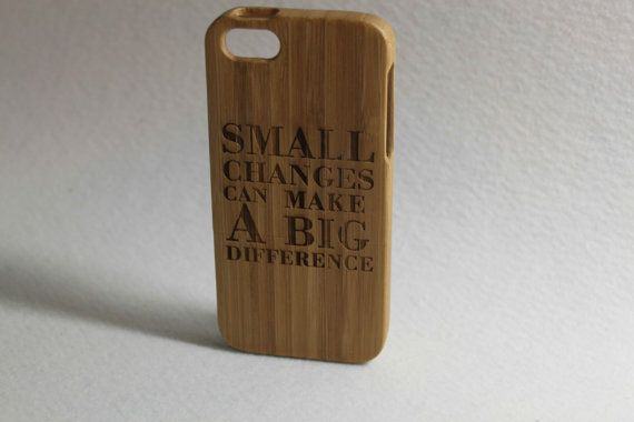 Custom Personalized Natural Bamboo Wooden Hard Case by FeelMyCraft
