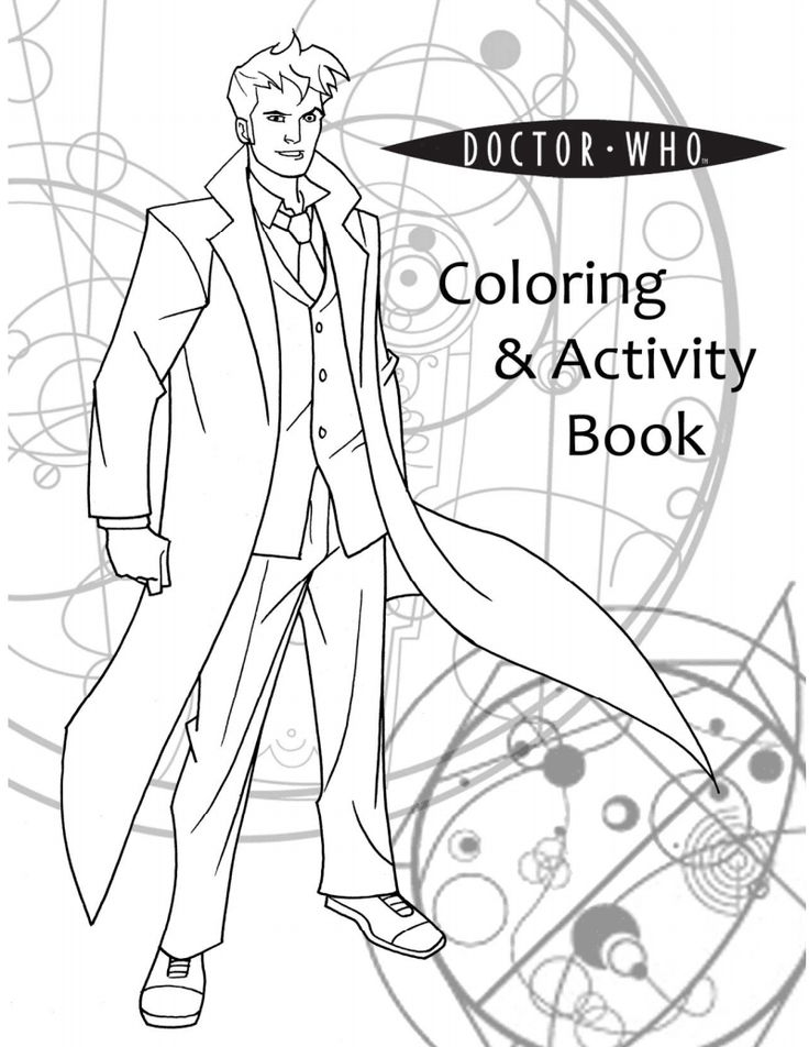 Doctor Who coloring pages. Totally worth the ink.