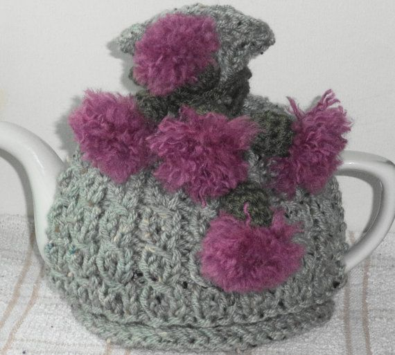 Scottish thistles..... hand knitted and by peerietreisures on Etsy, £12.50