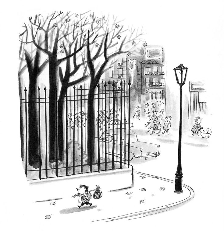 "Illustration by Jean-Jacques Sempé, from the ""Le Petit Nicolas"" series"