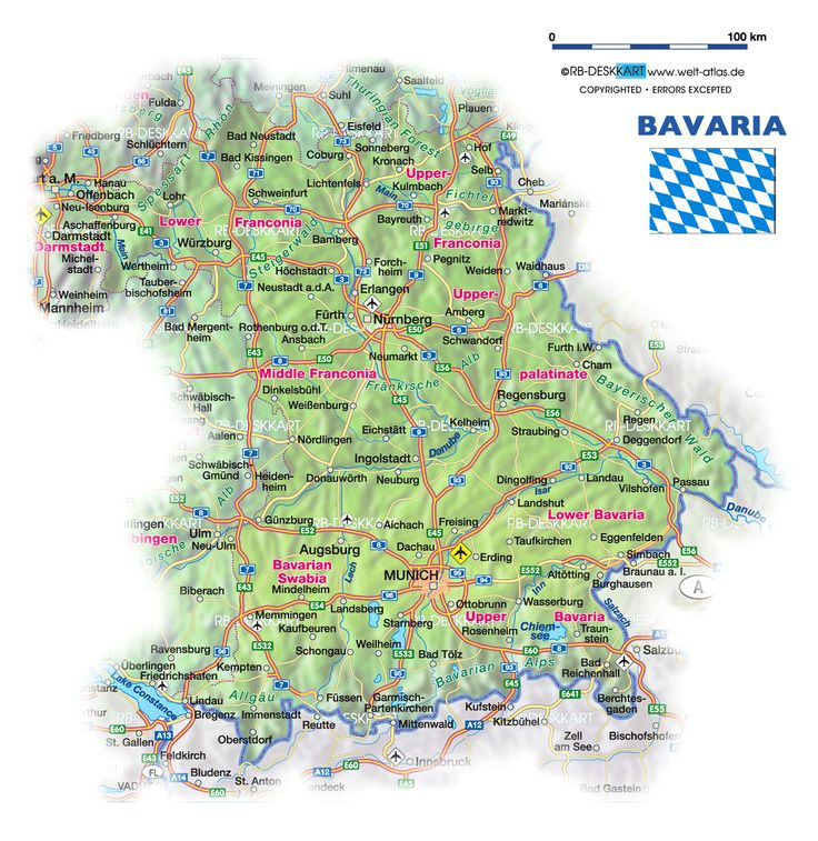 587 Best German Maps And Flags Images On Pinterest Map Flag: Map Of Bavaria Germany With Cities At Infoasik.co