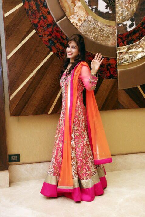 Desi love.... Designer Sabhyasachi floor length Anarkali