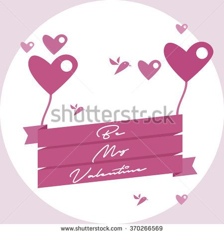 valentines day vintage lettering background - stock vector