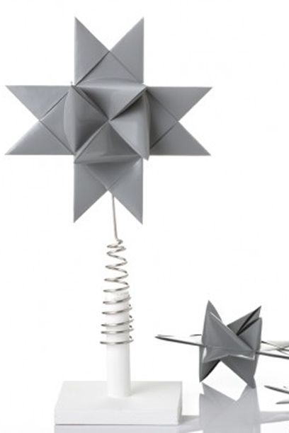 Tree topper - Gray painted star featured in Isabellas.