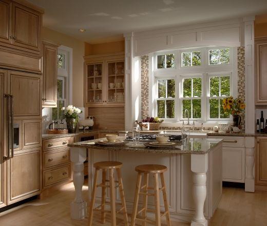 traditional u shaped pale yellow kitchen maple beach cabinets