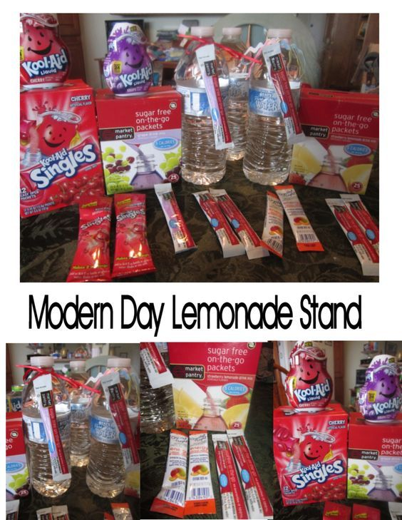 For your next bake sale or lemonade stand - let your customer pick their favorite flavor - chill bottle water and let them pick their favorite flavor packet.  LynnDavisCakes.com