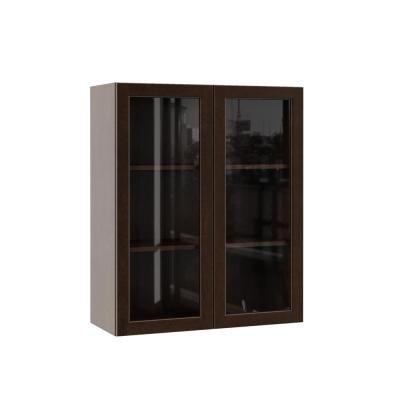 Hampton Bay Designer Series Gretna Assembled 30x36x12 In Wall Kitchen Cabinet Glass Cabinet Doors Glass Kitchen Cabinet Doors Kitchen Cabinet With Glass Doors