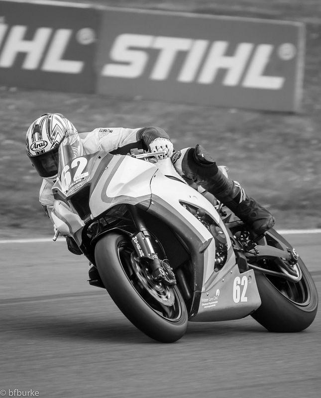 Sam West takes the corner on his Water Lane Physio Kawasaki at Knockhill Racing Circuit.