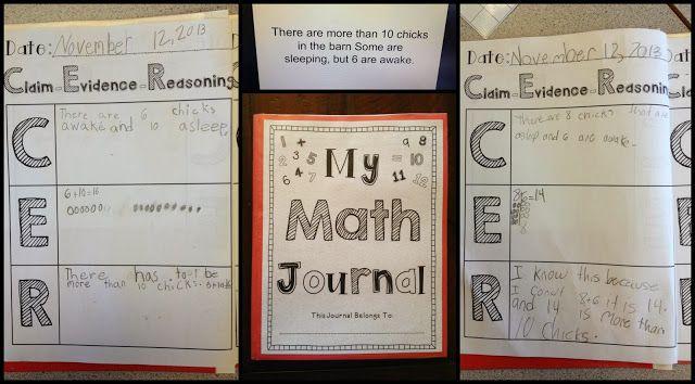 Math Journal Using C-E-R (Claim, Evidence, Reasoning)
