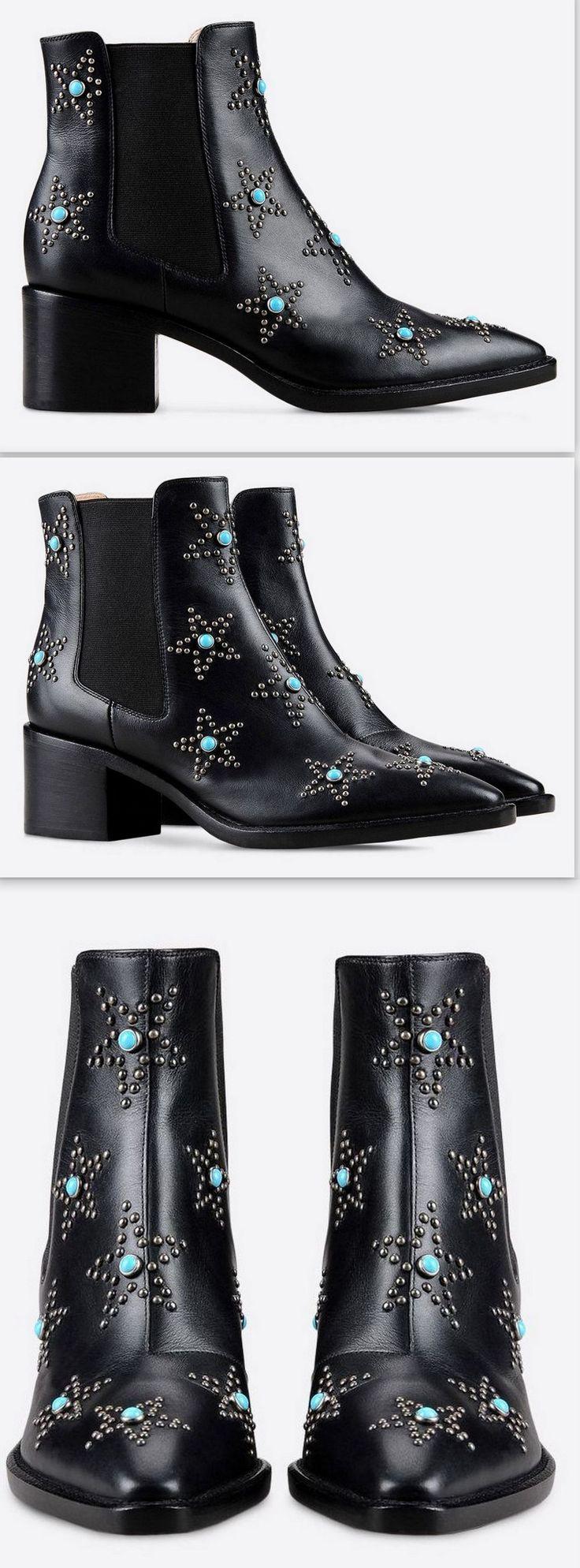 'Star Studded' Beatle Boot-Black