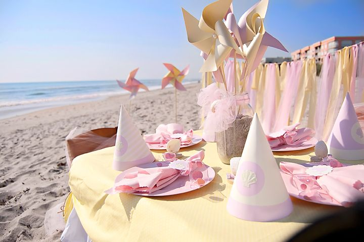 Celebrate you little one's birthday at the beach! #summertime #birthday #party: Beaches Birthday, Girls Birthday Parties, Birthday Parties Ideas, Baby Birthday, Beaches Parties, Beaches Baby, Girls Parties, Birthday Ideas, Summer Birthday Theme