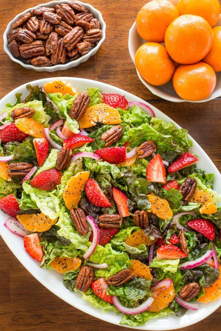 Strawberry Clementine Salad With Red Wine Vinegar Dressing Recipe Salad Delicious Salads Spring Recipes [ 1104 x 736 Pixel ]