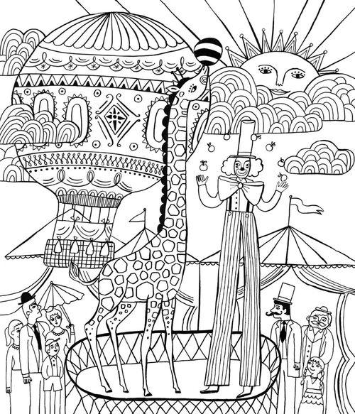 If you are in desperate need of a brain break, these grown up coloring pages are perfect! Let your imagination run wild with these whimsical circus designs from Just Add Color: Circus.