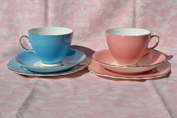 Colclough China Trios Tea cup Saucer Tea by ImagineHowCharming