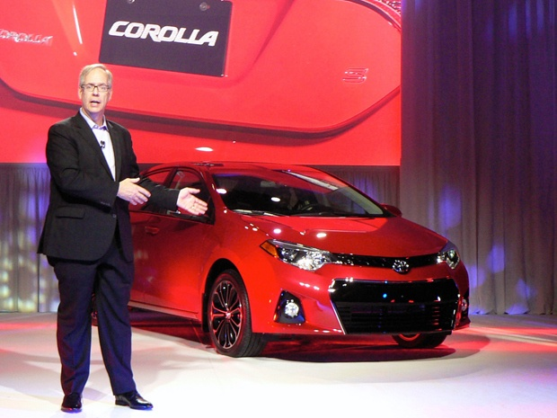 Toyota Canada managing director, Stephen Beatty, introduces the 2014 Toyota Corolla in Ottawa.