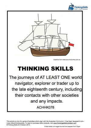 Teacher Resources History: Journeys Of Explorers Unit - use critical and creative thinking to learn about explorers!