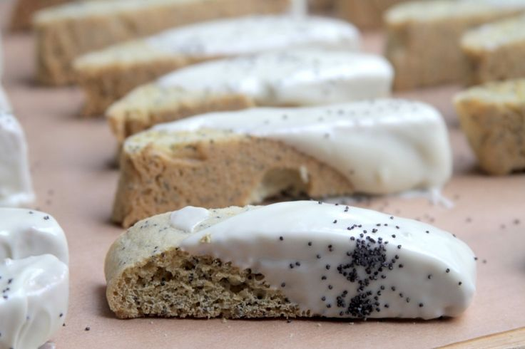 Cranberry Almond Chocolate Biscotti Dipped In Dove ...