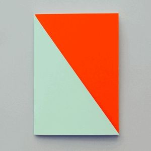 Graphic neon geometric notebooks by Alessandro Barbieri.