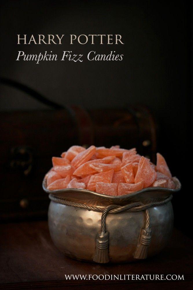Harry Potter Honeydukes Pumpkin Fizz hard candies recipe | Food in Literature