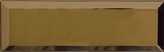 Metro Bisel Oro Brillo 10x30 fózolt fényes arany metro csempe
