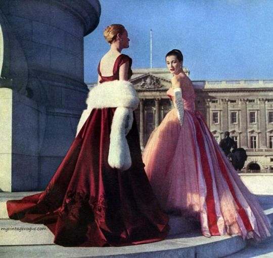 Evening Gowns by Hardy Amies 1957