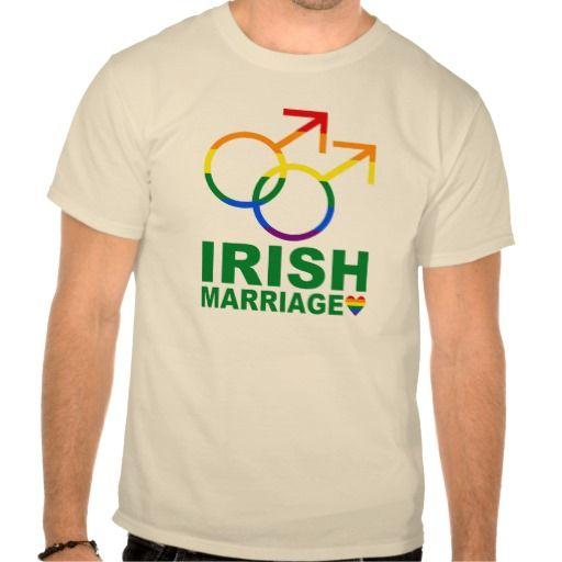 Original and unique custom t shirt design for #GayMarriage in Ireland.