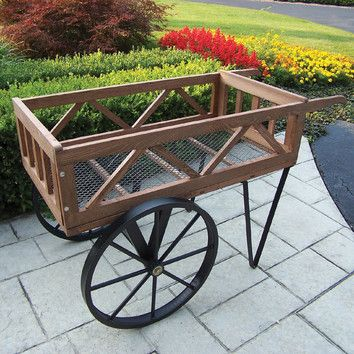 Oakland Living Flower Garden Wagon Planter
