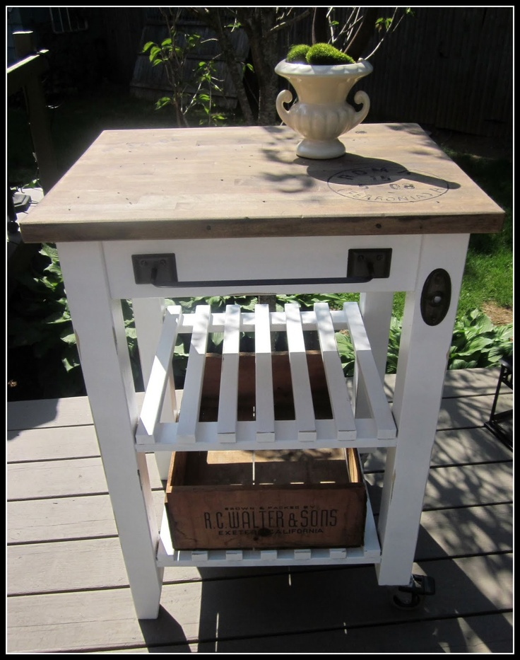 Great idea for refinishing my husband's grilling table that I just garbage picked!