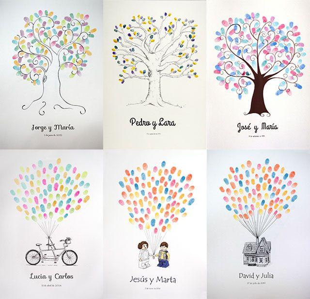 Blog de los detalles de tu boda | 10 Ideas originales para el libro de firmas de vuestra boda | http://losdetallesdetuboda.com/blog/idea-original-ibro-de-firmas-boda/