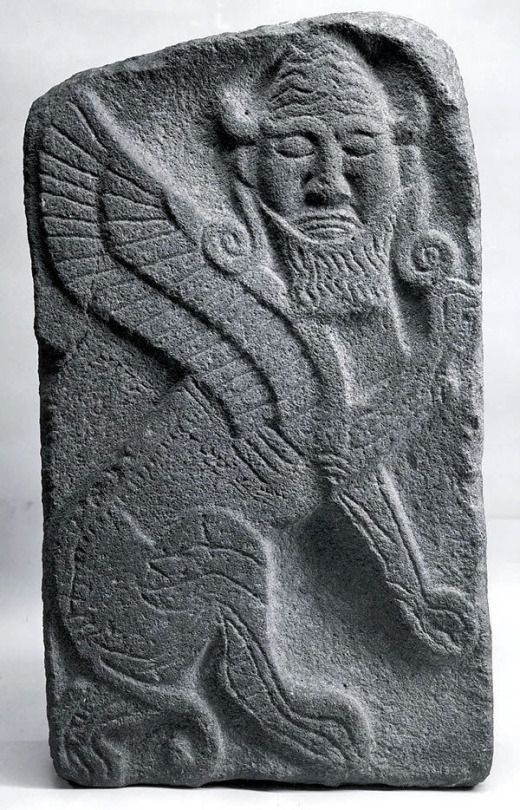 A bull with wings and human head, circa 9th century B.C., Hittite culture, modern-day Syria. (Metropolitan Museum of Art)